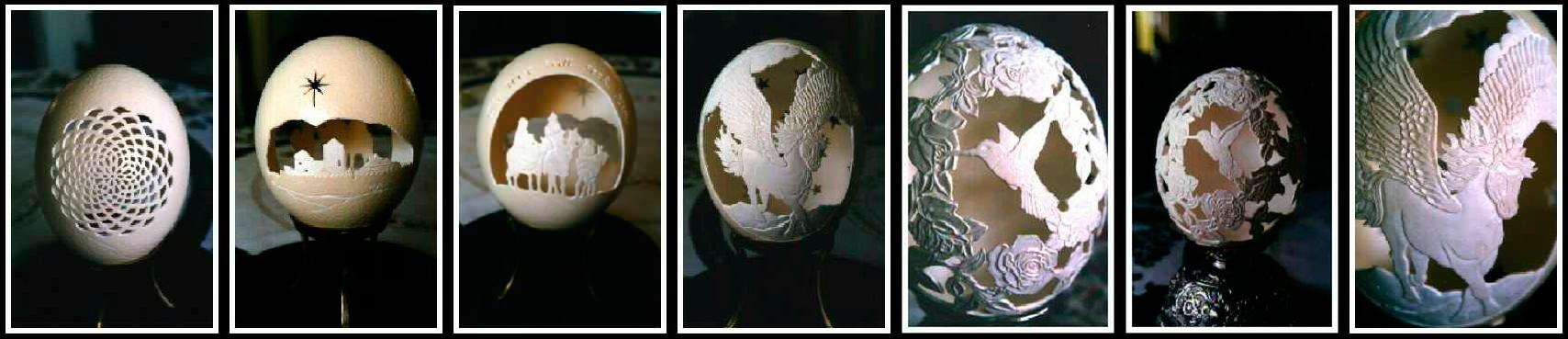 huevos tallados laser