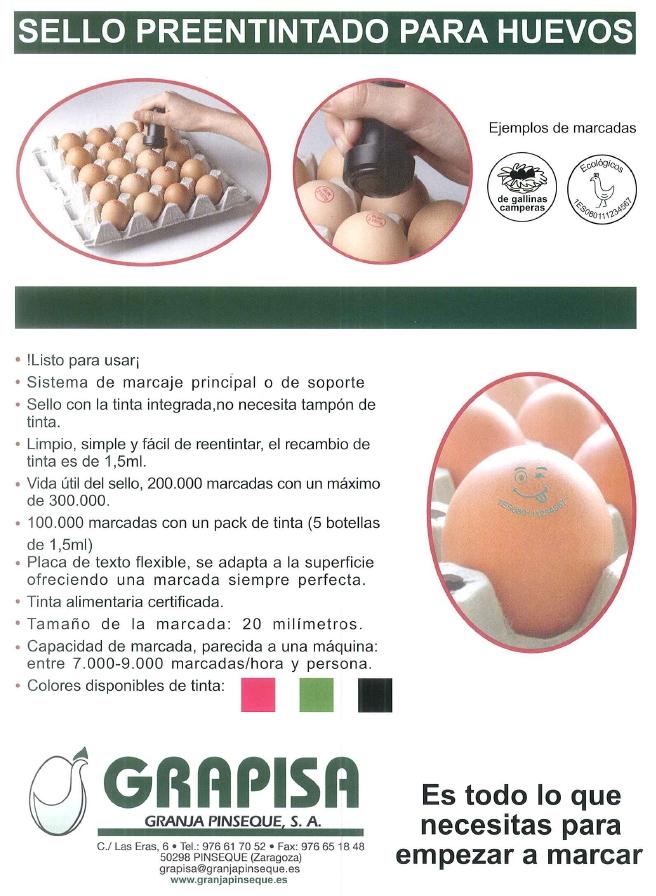 sello huevos preentintado